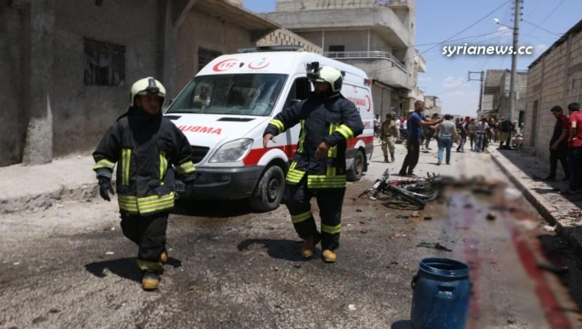 IED explosion in Jarabulus 24 May 2021 - White Helmets - Nusra Front - Al Qaeda