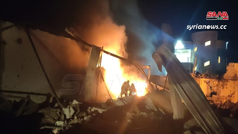 Israeli aggression against sites in Latakia, Syria