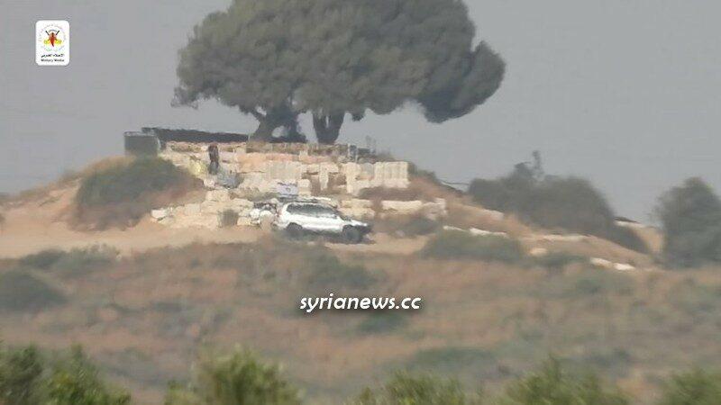Palestinian Saraya Quds of Islamic Jihad for Kornet Missile on Israeli Jeep north of Gaza