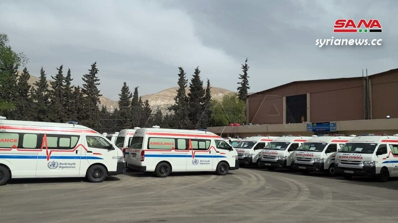 Syria receives 40 ambulances from the World Health Organization