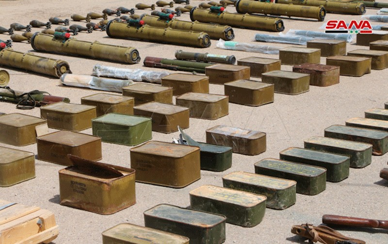 Weapons and munition found in Daraa southern Syria