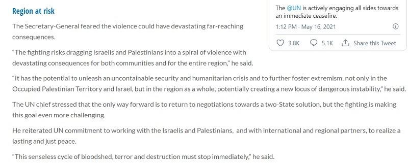 Gaza must stop defending itself.