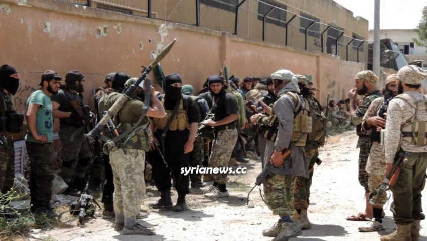 Al Qaeda HTS Hayat Tahrir Sham Nusra Front Jabhat Nusra terrorists in Idlib, Syria - NATO Turkey