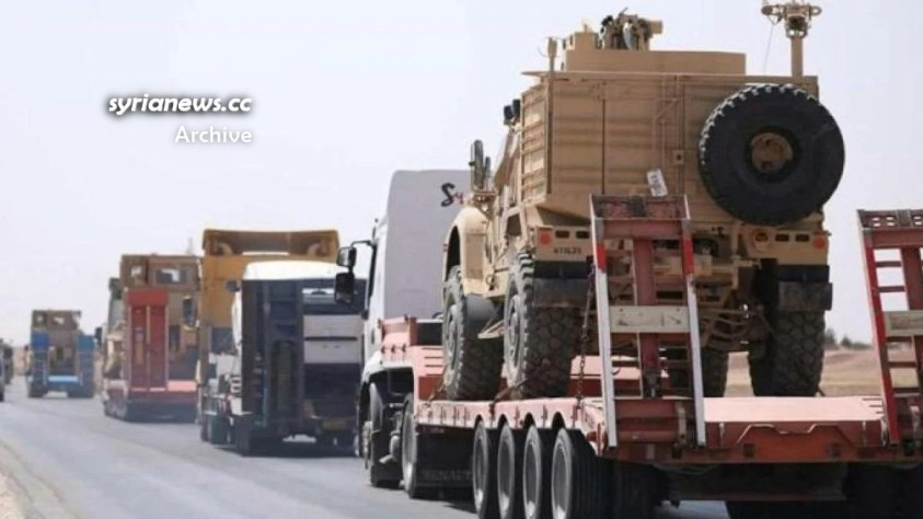 Biden forces US army steal Syrian wheat and oil into Iraq smuggle into Syria military vehicles