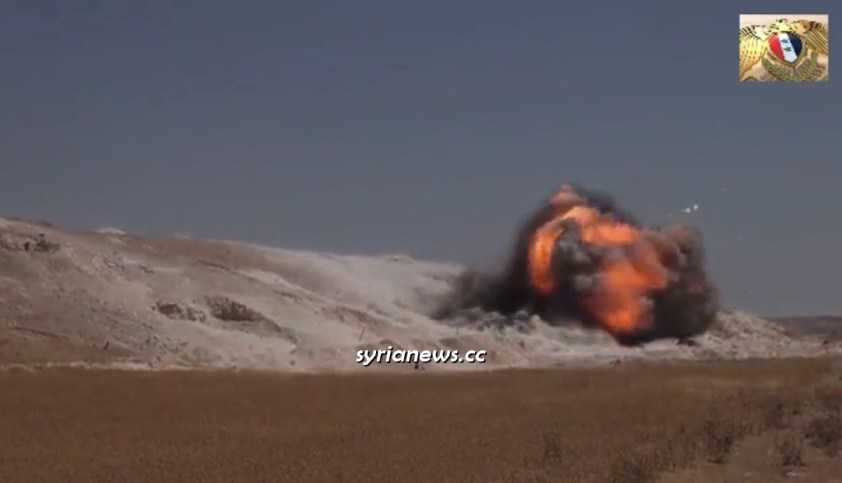 Russian and Syrian Sappers Blow Up Al Qaeda Cave Network in Hama