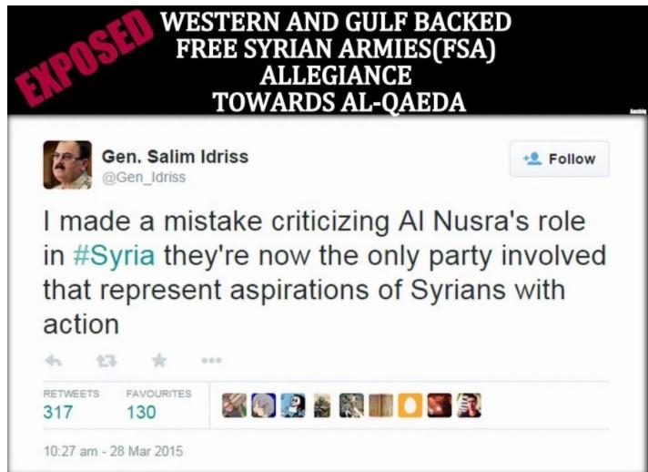 FSA insurrectionist supporter of Nusra on board with NATO Turkey water war crimes