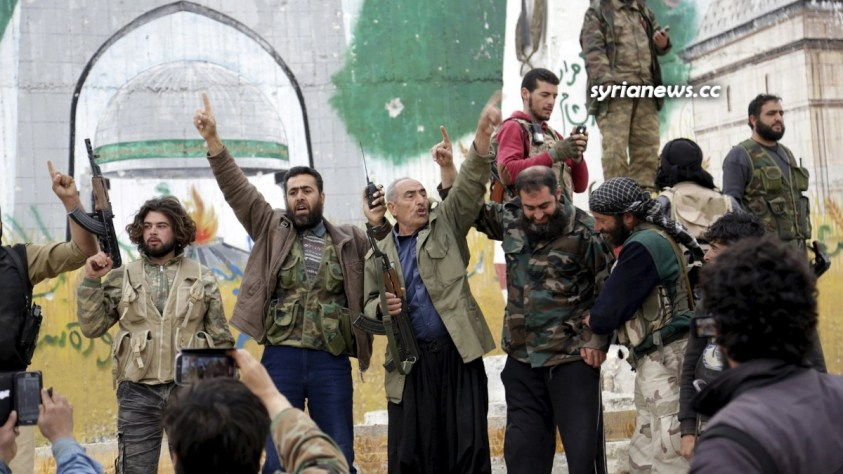 Al Qaeda in Syria celebrating the support from the UNSC NATO countries