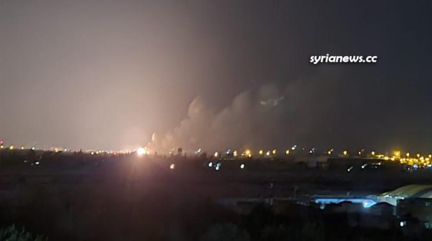Israel bombs Al Safirah near Aleppo Syria 19 July 2021