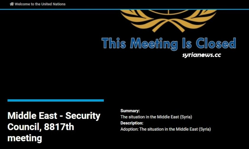 Syria - United Nations Security Council meetings