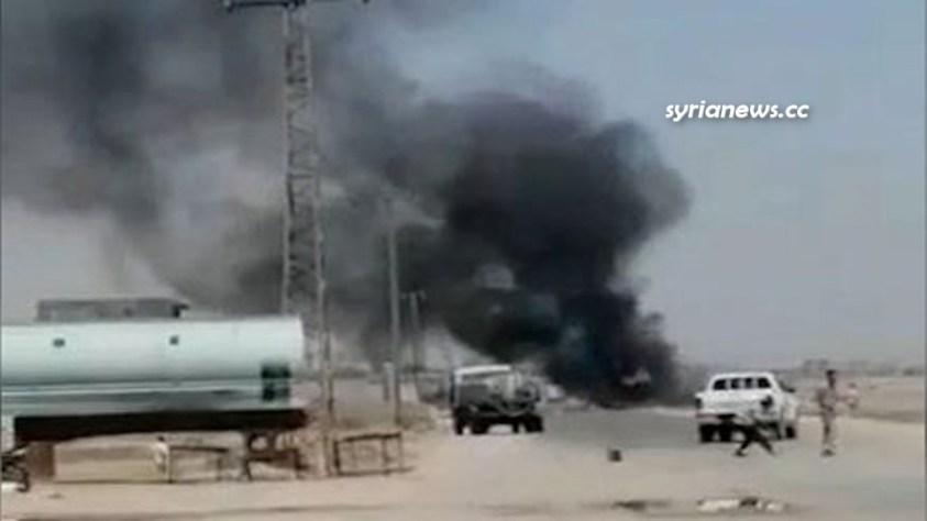 US Biden forces bomb a truck carrying food items near Bu Kamal northeast Syria