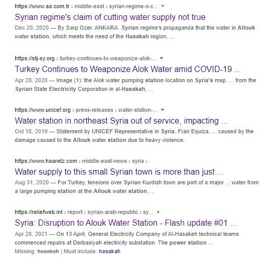 Water wars crimes against Syrians ignore Syrians.