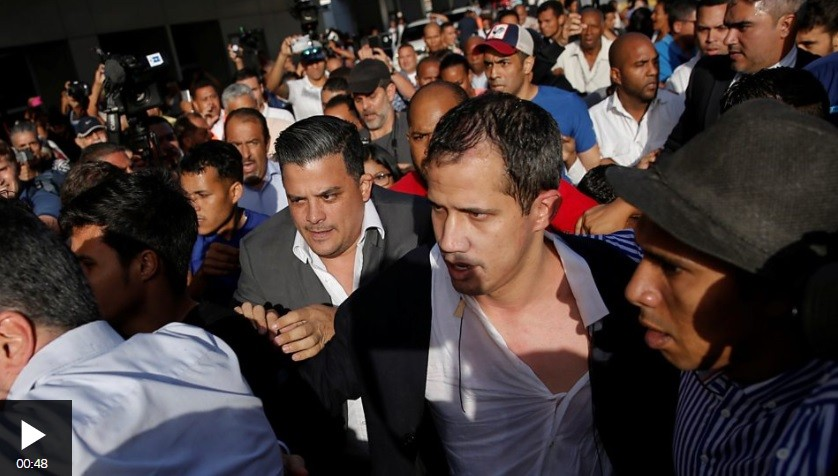 Perrito Guaido greeted by Conviasa workers upon his return to Venezuela