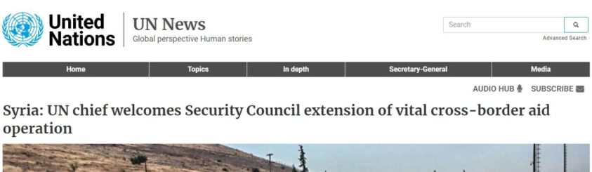 SG happy for al Qaeda but not enough to mention the UNSC resolution.