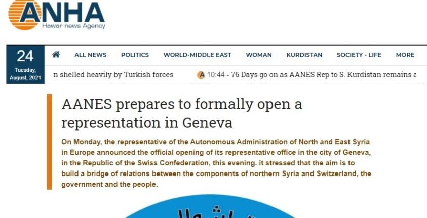 NATO kurdish terrorits media announcing Swiss office