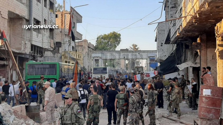 Evicting of Al Qaeda and ISIS terrorists from Daraa Balad to the north of Syria