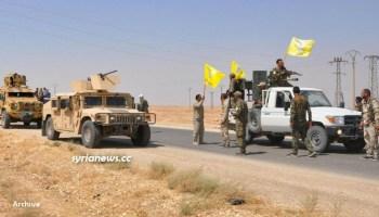 US-sponsored Kurdish SDF Separatist Terrorists in Northern Syria - archive