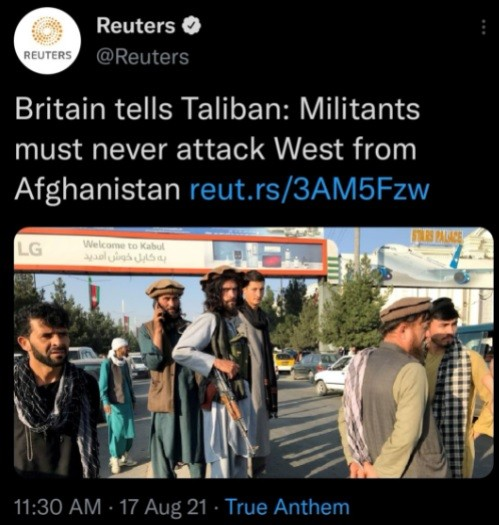 Britain tells Taliban to stay out of Europe.