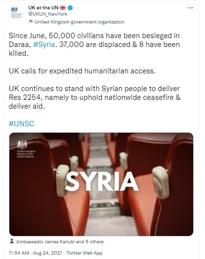 UNSC 's UK lied about Syria.