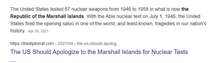 Reminder to the UNSC that US hasn't been charged with its crimes against the Marshall Islands.