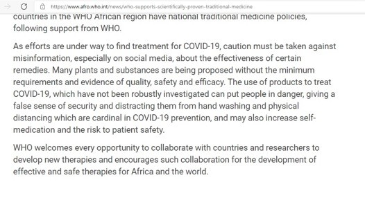 Anti-ivermectin WHO concerned about Africans lack of handwashing skills.