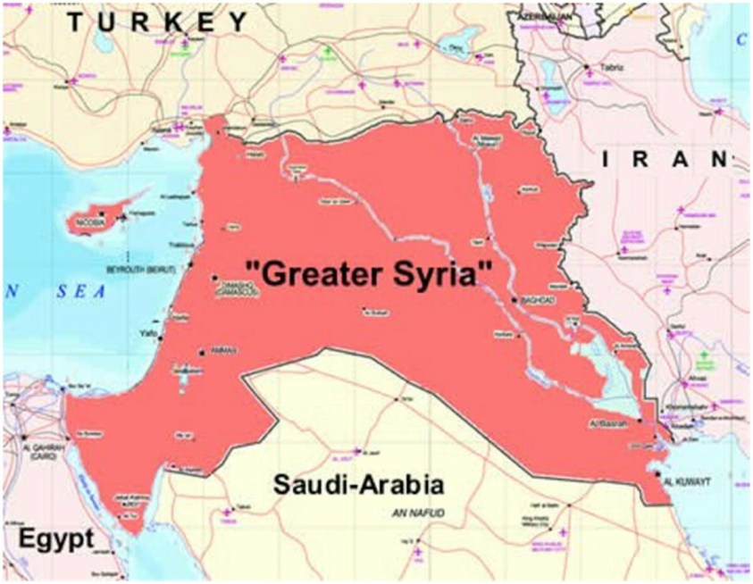 Greater Syria map