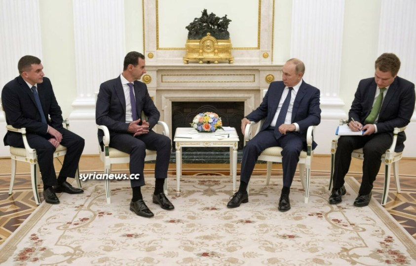 Syrian President Bashar Assad meets Russian President Vladimir Putin in Moscow