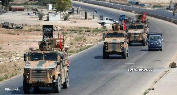 Turkish army column in northern Syria - Idlib - Aleppo - Raqqa - Deir Ezzor - Hasakah