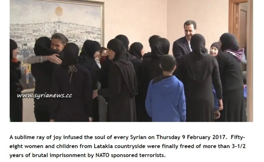 Tripartite war criminals of UNSC ignored news of released Syrian women.