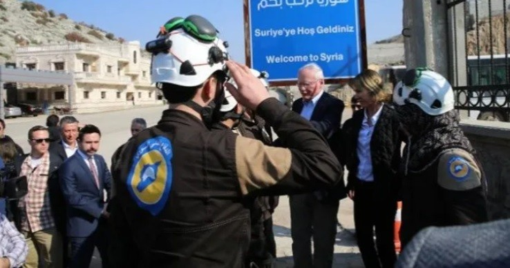 Kelly Craft and fake ambassador Jeffrey in NATO Turkey with terrorist White Helmets.