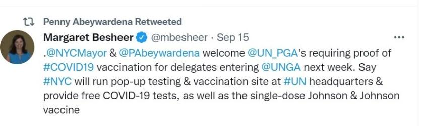Official VOA [CIA] reporter to UN perpetuated de Blasio's lie.