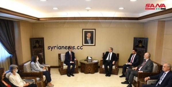 Minister Mekdad receives UN envoy Pedersen in Damascus