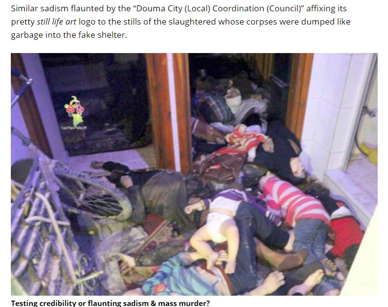 Mass murder and abuse of corpses in Douma, by terrorists who are supported by the klan at the UNSC.