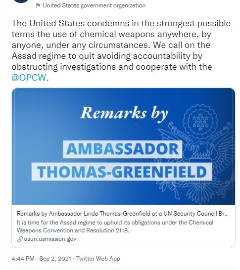US Goebbels P3 member lies to the UNSC.