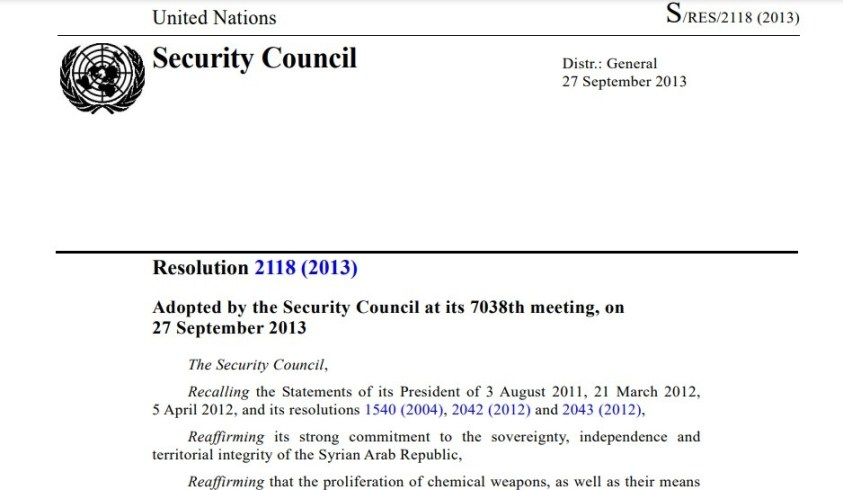 It now appears that UNSCR 2118 was set up to facilitate false flags in Syria.