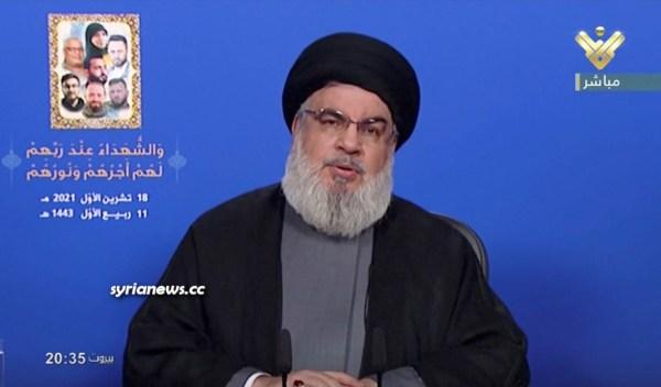 Sayyed Hassan Nasrallah Hezb Allah Chief Hezbollah has 100 thousand fighters