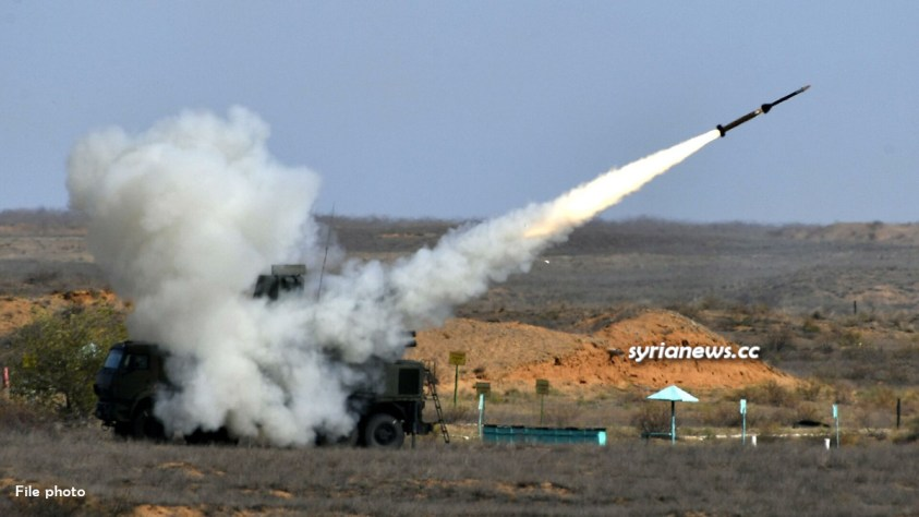 Syrian air defense address Israel missile bombing - file photo