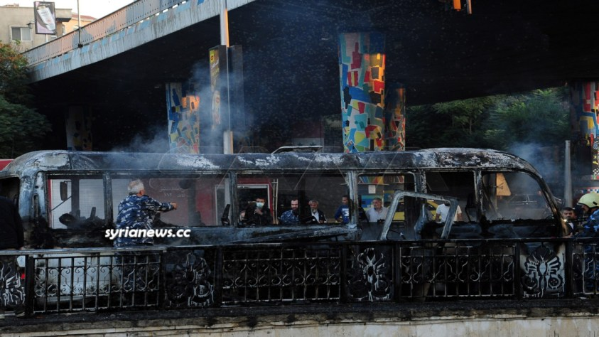 Terrorist attack targets a bus in Damascus - Syria