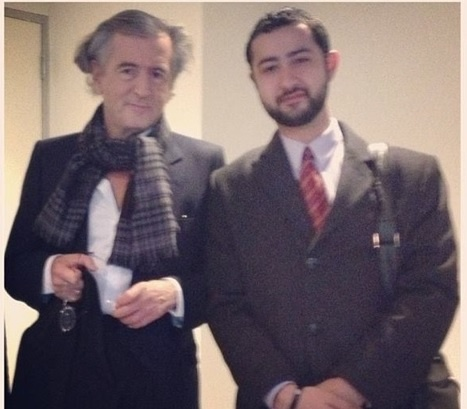 """SETF head """"kicking it"""" with likely French intelligence operative Bernard Henri Levi, who supports armed SDF in Syria."""