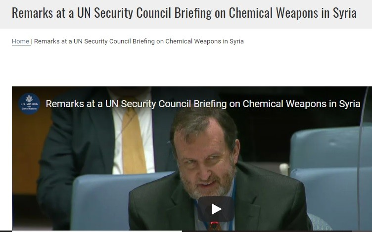 & by their lies, they Nazis be --at the UNSC.