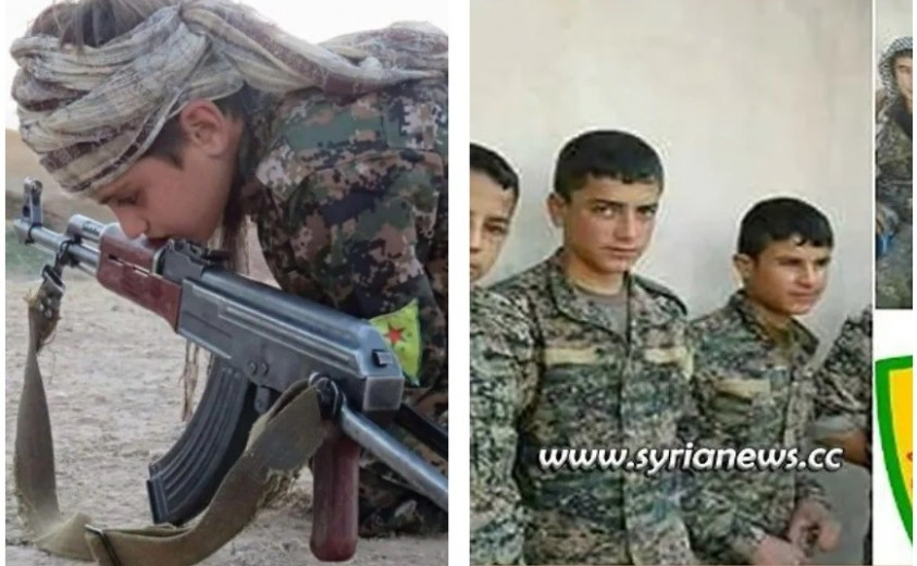 SDF child soldiers in Syria.