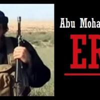 Russian airstrike [in the province of Aleppo] killed Daesh leader Abu Muhammad al-Adnani