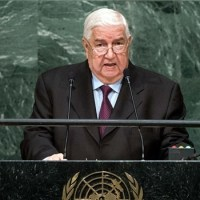 """Syrian Foreign Minister, Walid al-Moallem, speech at U.N. General Assembly's 71 session: """"We, in Syria, are combating terrorism on behalf of the whole of the world"""""""
