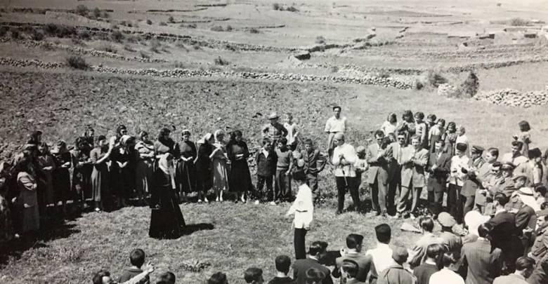 حفل رقص شركسي في الجولان بمناسبة (اليوم الشركسي) 1955