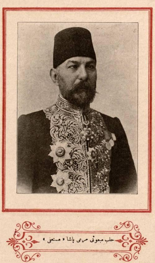 الصورة الرسمية لنائب حلب مرعي باشا الملاح في مجلس المبعوثان