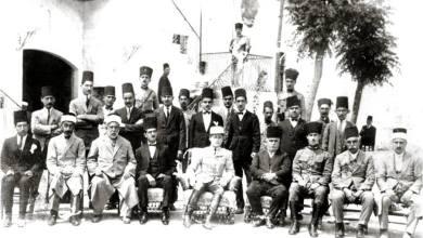 من أمام مبنى السرايا في جبلة عام 1920م