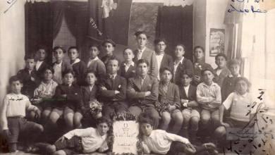 طلاب المدرسة السريانية فيالقامشليمع المربي الملفونو شكري جرموكلي