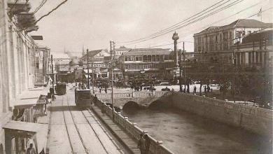 دمشق 1924 - صورة ساحة المرجة من فندق فيكتوريا الكبير