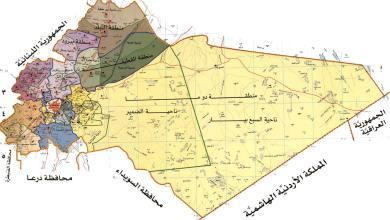 خريطة ريف دمشق