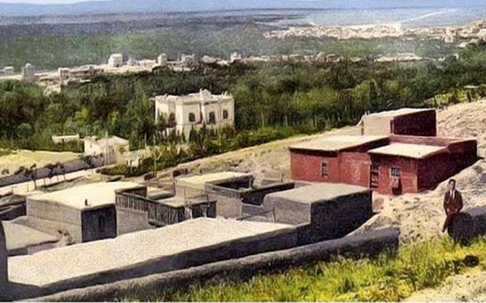 قصر المهاجرين  – قصر حسين ناظم باشا – وبطاقة بريدية للقصر عام 1910   (8)