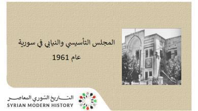 المجلس التأسيسي والنيابي في سورية 1961